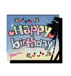 お誕生日おめでとう!セット(個別スタンプ:01)