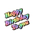 動く 光る!49歳~64歳の誕生日ケーキ(個別スタンプ:01)