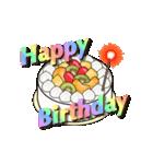 動く 光る!49歳~64歳の誕生日ケーキ(個別スタンプ:03)