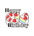 動く 光る!49歳~64歳の誕生日ケーキ(個別スタンプ:08)