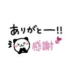 ふたこと申す!パンダねこ♪友だち・家族①(個別スタンプ:01)