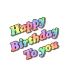 動く!光る! 33歳~48歳の誕生日ケーキ(個別スタンプ:01)