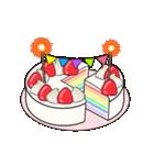 動く!光る! 33歳~48歳の誕生日ケーキ(個別スタンプ:02)