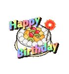 動く!光る! 33歳~48歳の誕生日ケーキ(個別スタンプ:03)