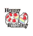 動く!光る! 33歳~48歳の誕生日ケーキ(個別スタンプ:08)