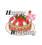 動く!光る! 33歳~48歳の誕生日ケーキ(個別スタンプ:11)