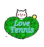かわいいテニスのバイリンガルスタンプ(個別スタンプ:01)