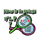 かわいいテニスのバイリンガルスタンプ(個別スタンプ:05)