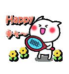 かわいいテニスのバイリンガルスタンプ(個別スタンプ:19)