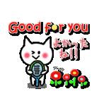 かわいいテニスのバイリンガルスタンプ(個別スタンプ:24)