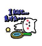 かわいいテニスのバイリンガルスタンプ(個別スタンプ:33)