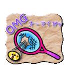 かわいいテニスのバイリンガルスタンプ(個別スタンプ:37)