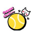 かわいいテニスのバイリンガルスタンプ(個別スタンプ:38)