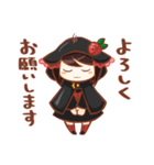 黒ずきんちゃんと銀色のおおかみさん(個別スタンプ:02)