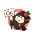 黒ずきんちゃんと銀色のおおかみさん(個別スタンプ:03)
