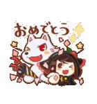 黒ずきんちゃんと銀色のおおかみさん(個別スタンプ:07)