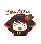 黒ずきんちゃんと銀色のおおかみさん(個別スタンプ:09)