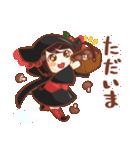 黒ずきんちゃんと銀色のおおかみさん(個別スタンプ:15)