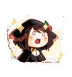 黒ずきんちゃんと銀色のおおかみさん(個別スタンプ:39)