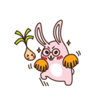 はきはきしたウサギ(個別スタンプ:04)