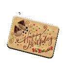 ケーキとお花のお誕生日『Happy birthday』(個別スタンプ:2)