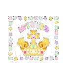 ケーキとお花のお誕生日『Happy birthday』(個別スタンプ:6)