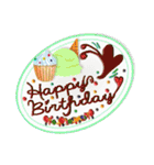 ケーキとお花のお誕生日『Happy birthday』(個別スタンプ:8)