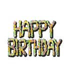ケーキとお花のお誕生日『Happy birthday』(個別スタンプ:9)
