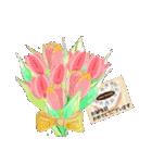 ケーキとお花のお誕生日『Happy birthday』(個別スタンプ:10)
