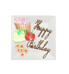 ケーキとお花のお誕生日『Happy birthday』(個別スタンプ:13)