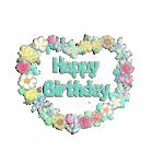 ケーキとお花のお誕生日『Happy birthday』(個別スタンプ:14)