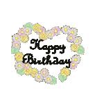 ケーキとお花のお誕生日『Happy birthday』(個別スタンプ:21)