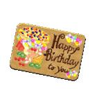 ケーキとお花のお誕生日『Happy birthday』(個別スタンプ:22)