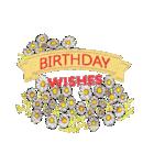 ケーキとお花のお誕生日『Happy birthday』(個別スタンプ:23)