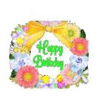 ケーキとお花のお誕生日『Happy birthday』(個別スタンプ:24)