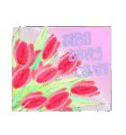 ケーキとお花のお誕生日『Happy birthday』(個別スタンプ:30)