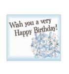 ケーキとお花のお誕生日『Happy birthday』(個別スタンプ:31)