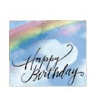 ケーキとお花のお誕生日『Happy birthday』(個別スタンプ:36)