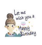 ケーキとお花のお誕生日『Happy birthday』(個別スタンプ:38)