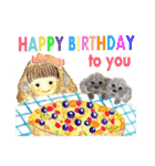 ケーキとお花のお誕生日『Happy birthday』(個別スタンプ:39)