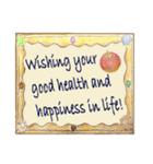 ケーキとお花のお誕生日『Happy birthday』(個別スタンプ:40)
