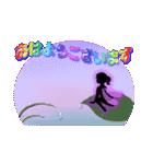 妖精と虹色ガラス文字(個別スタンプ:1)