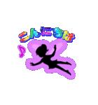 妖精と虹色ガラス文字(個別スタンプ:2)