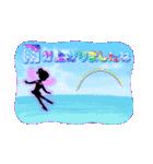 妖精と虹色ガラス文字(個別スタンプ:8)