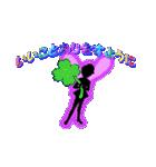妖精と虹色ガラス文字(個別スタンプ:12)