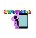 妖精と虹色ガラス文字(個別スタンプ:16)