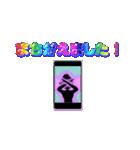 妖精と虹色ガラス文字(個別スタンプ:19)