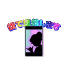 妖精と虹色ガラス文字(個別スタンプ:20)