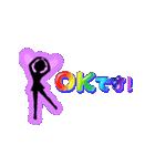 妖精と虹色ガラス文字(個別スタンプ:21)