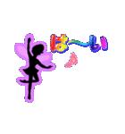 妖精と虹色ガラス文字(個別スタンプ:23)